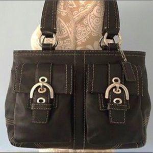 Coach Soho Black Leather Bag